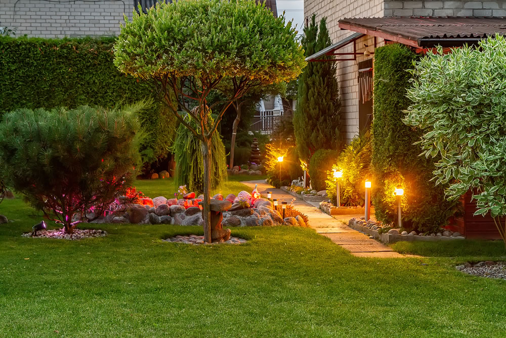 bigstock-Garden-Illuminated-By-Lamps-272349583