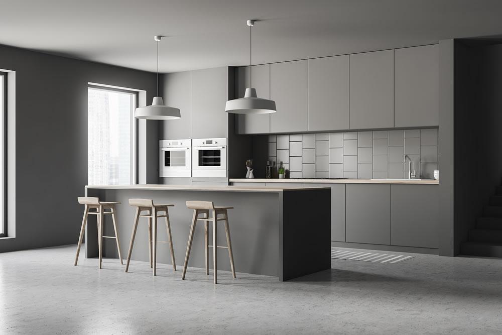 bigstock-Gray-Kitchen-Corner-With-Bar-273992659
