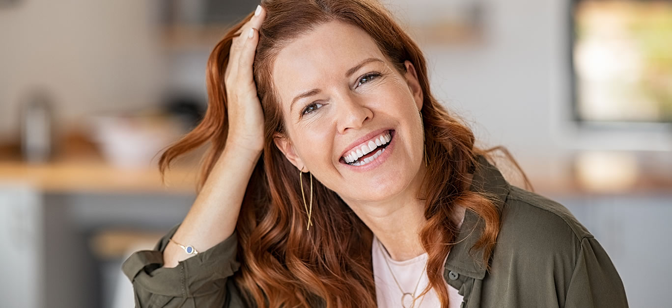 woman smile teeth