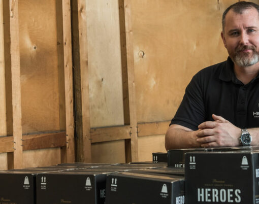 Chris Gillan, managing director of Heroes Drinks Company