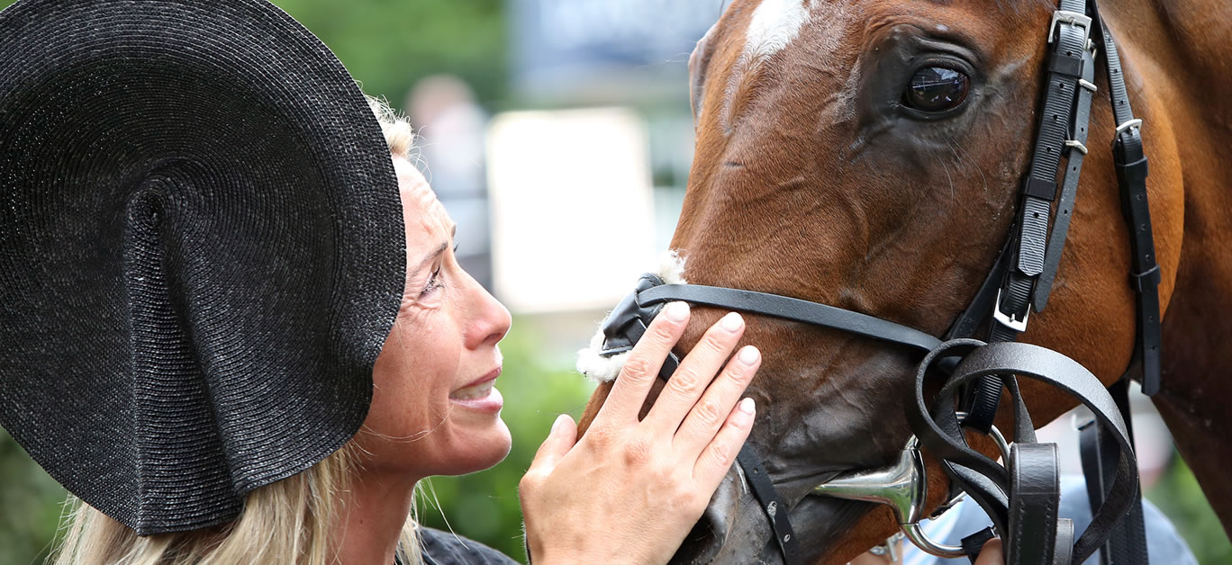 Without Parole and Tanya Gunther following his 2018 victory at Royal Ascot (credit Racing Fotos)