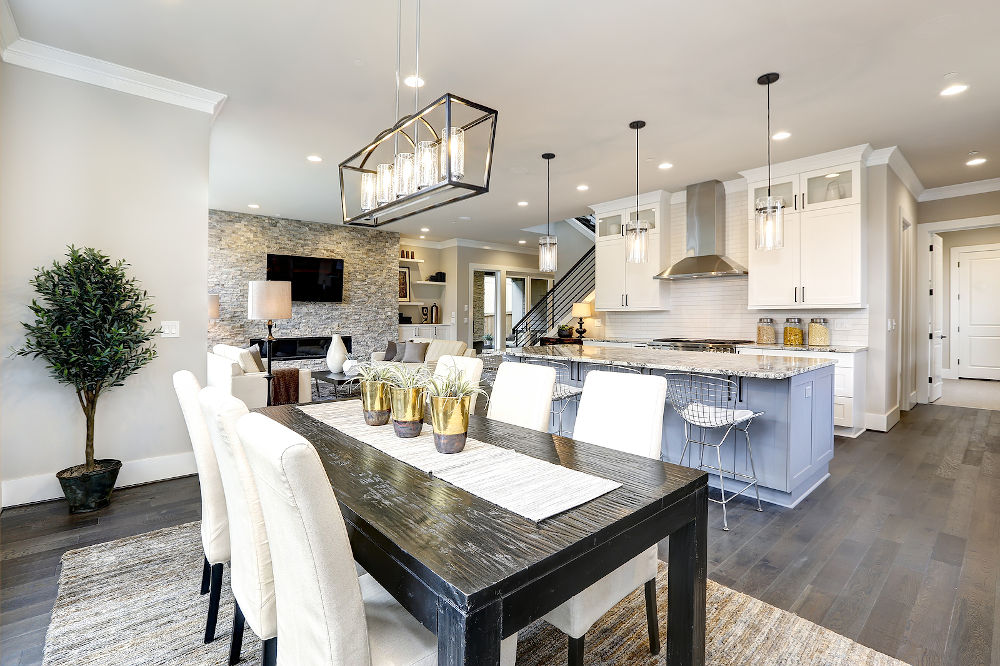 Beautiful Kitchen In Luxury Modern Contemporary Home Interior Wi