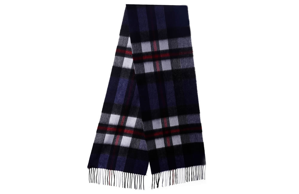 Exploded Thomson Navy Cashmere Scarf