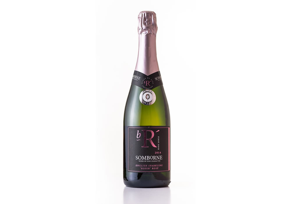Somborne Valley English Sparkling Blush Rosé 2014