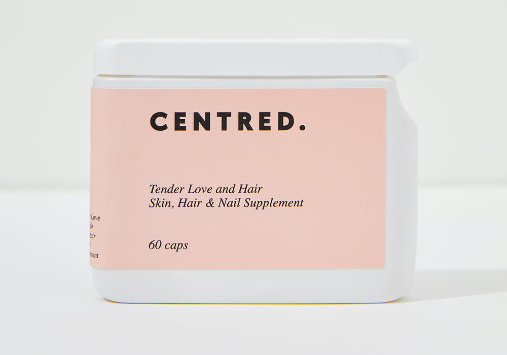 Centred Tender Love and Hair Supplements