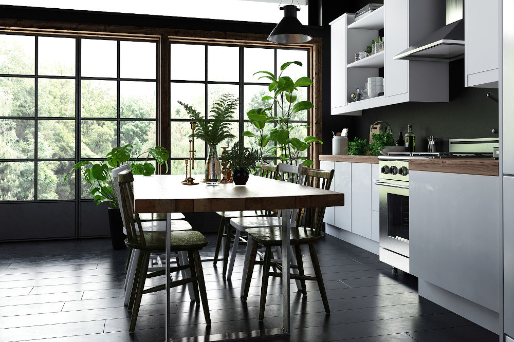 modern japandi kitchen