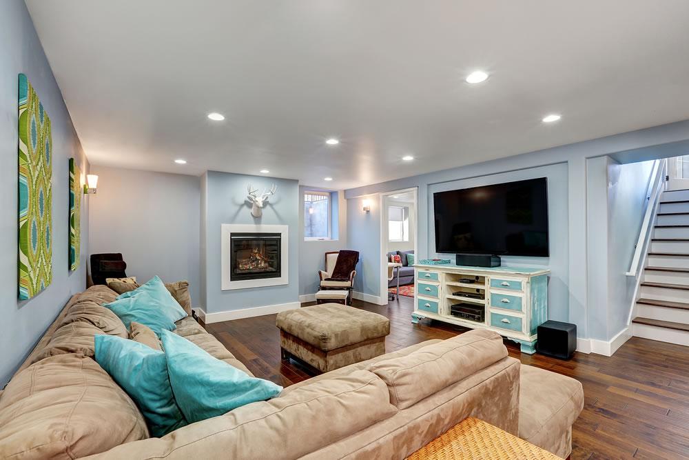 bigstock-Pastel-Blue-Walls-In-Basement--145293092
