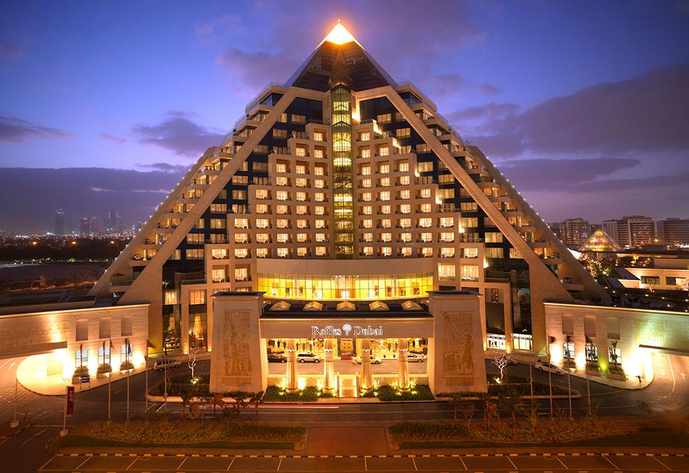 Hotel Raffles, located in Dubai