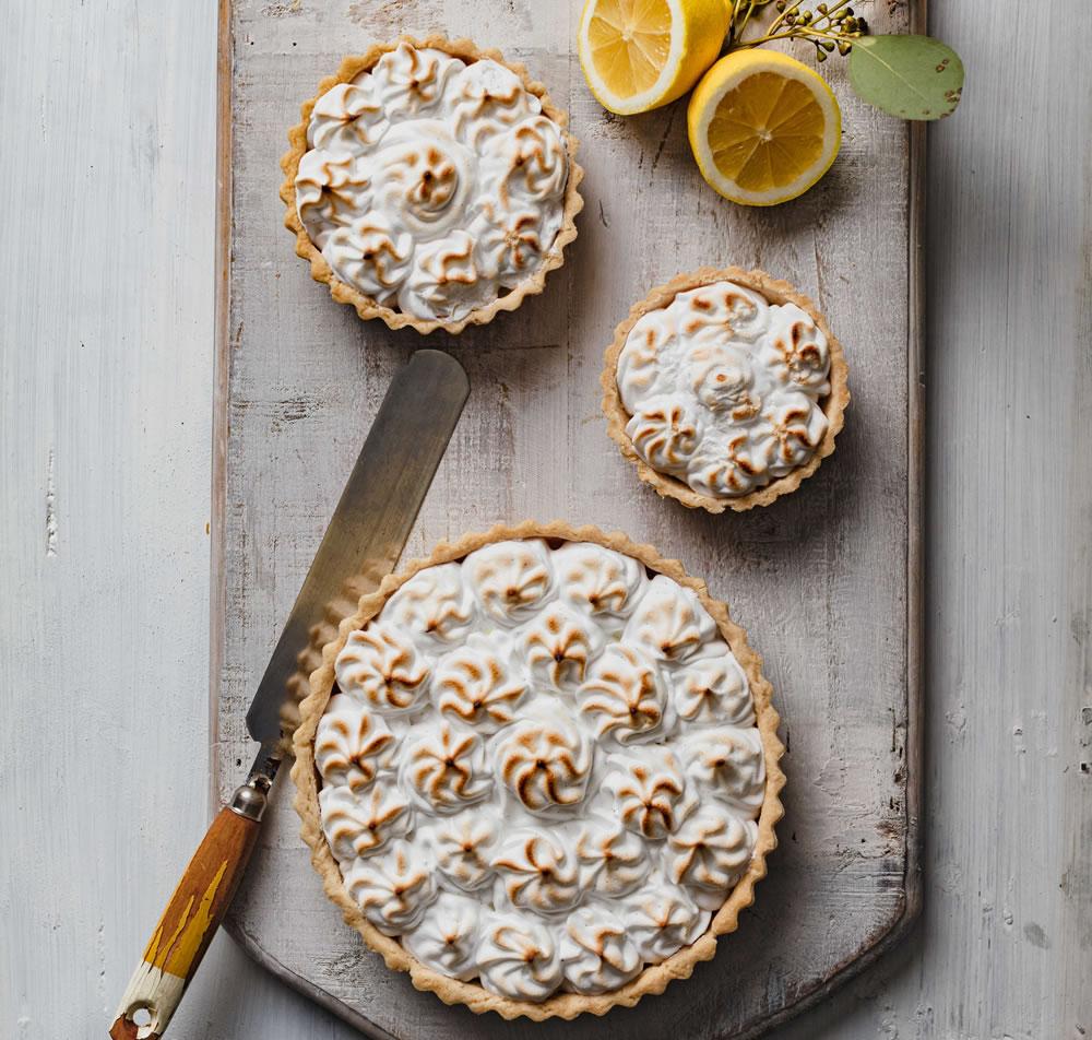 Vegan yuzu and lemon meringue pie