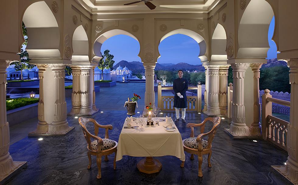 Fairmont Jaipur outdoor dining area