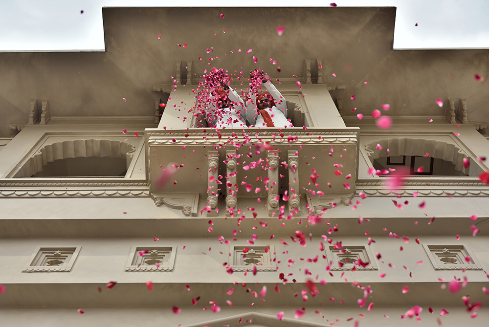 Fairmont Jaipur Welcome you with pink petals