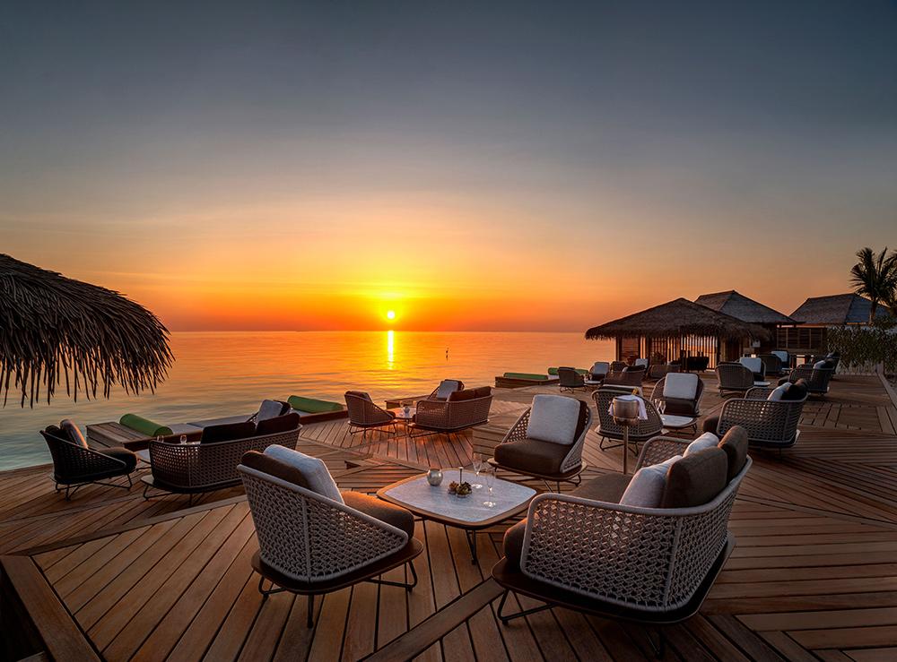 Waldorf Astoria Maldives Ithaafushi Resort with the Amber Sunset