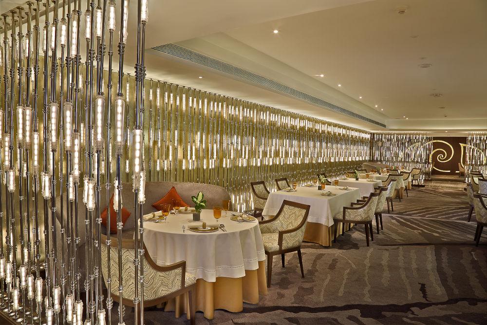 Dining room at Avartana, Chennai