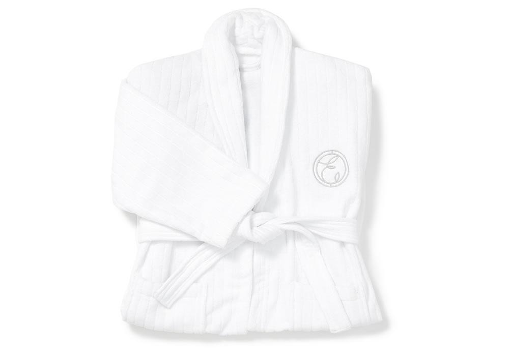 Cotton Embroidered Bath Robe by ESPA