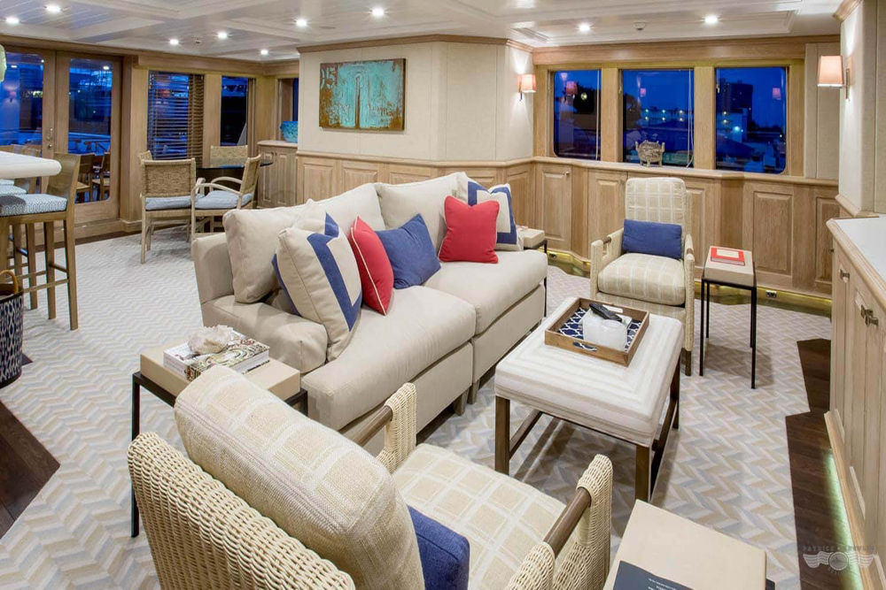 Living room on a yacht