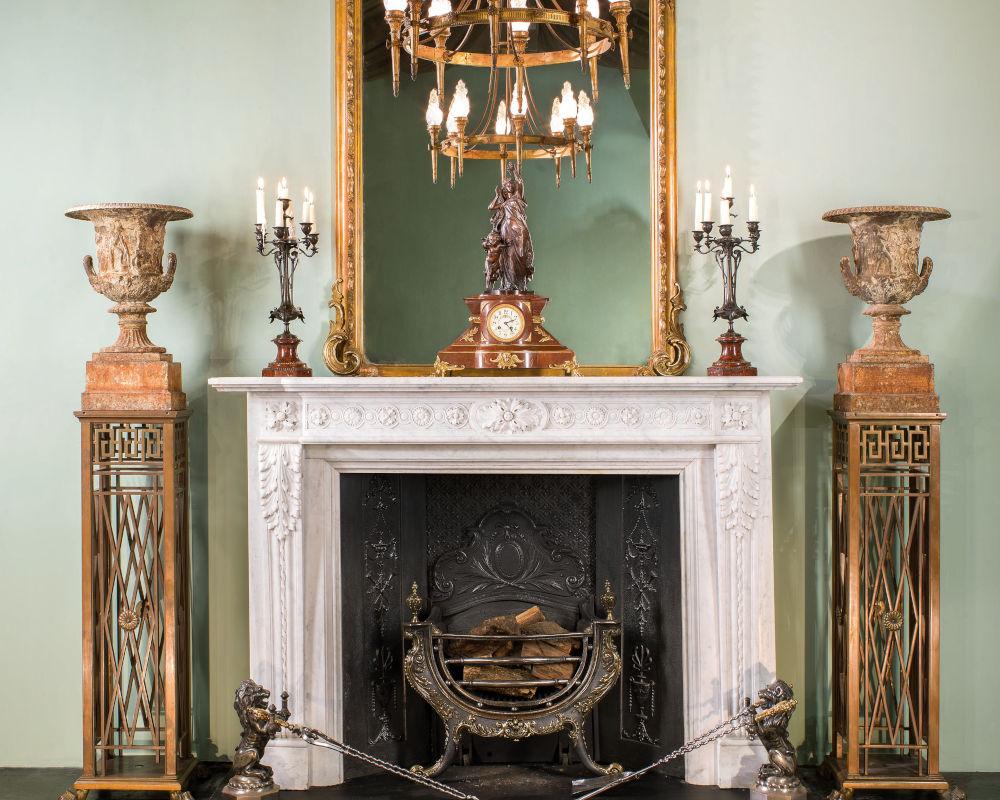 Beautiful fireplace in home