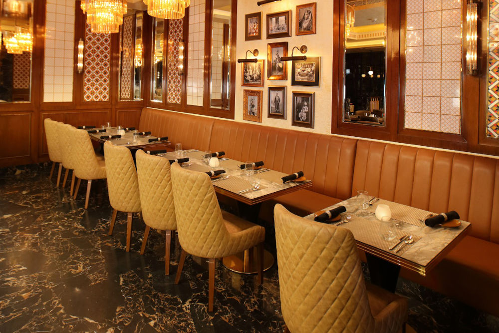 The interiors at Punjab Grill
