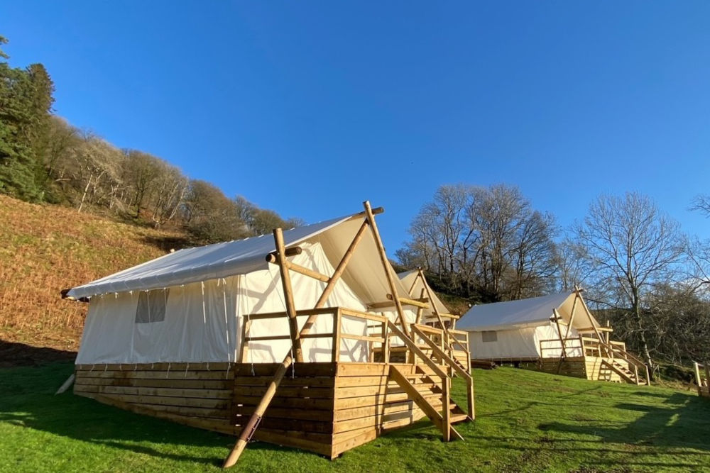 Luxury tents in the Lake District