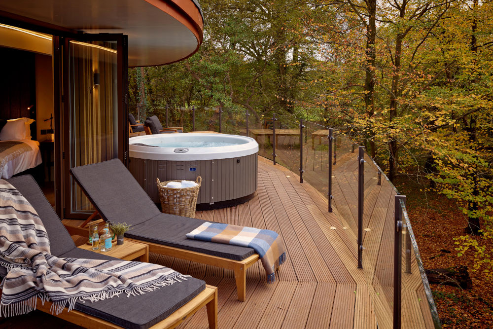 Luxury treehouse located in the Treehouse Hideaway at Chewton Glen