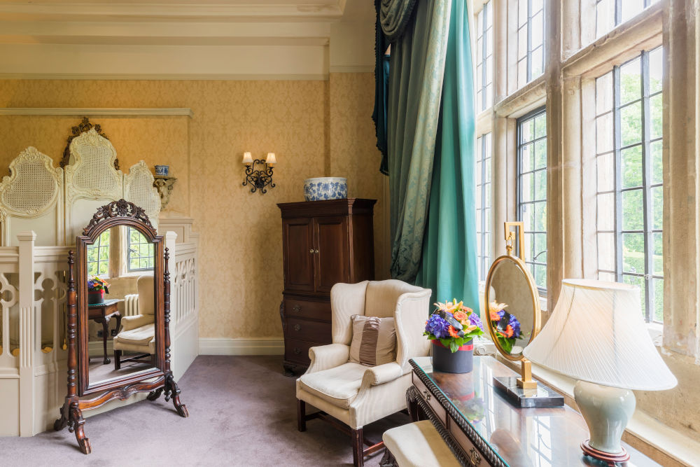 One of the suites at Coombe Abbey