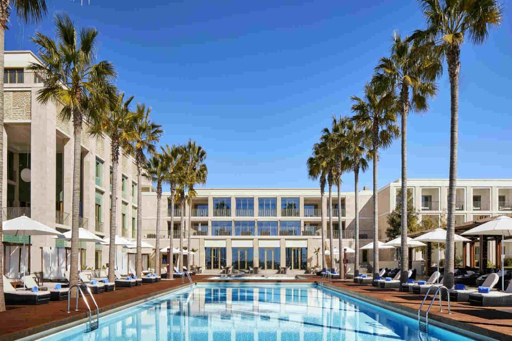 View of the swimming pool at Anantara Vilamoura Algarve Resort