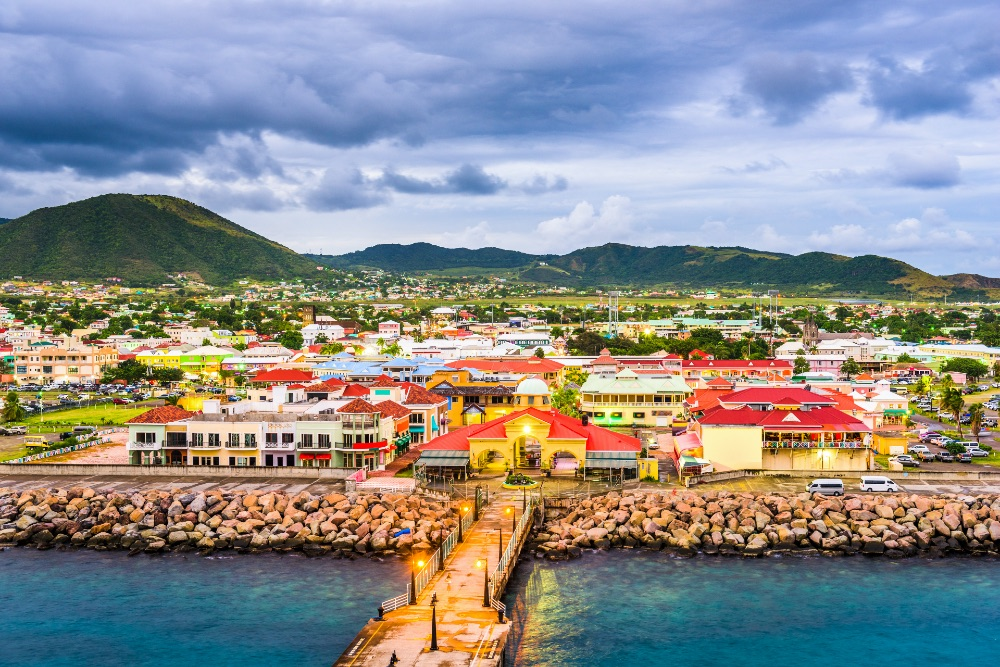 Basseterre, the capital of the Caribbean island federation of Saint Kitts and Nevis