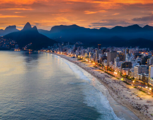 Beautiful Panorama Of Rio De Janeiro At Twilight, Brazil