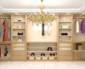 dressing room, walk in wardrobe