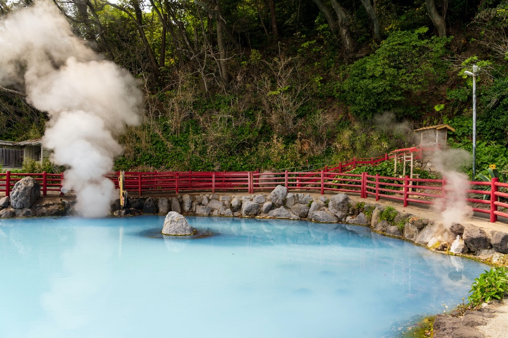 A hot spring in Japan