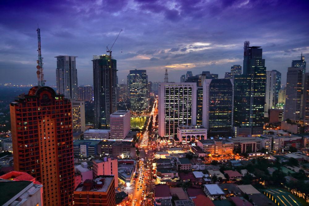 Makati skyline in Manila