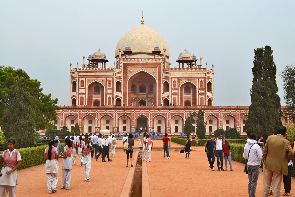 Humayun's Tomb, a famous Mughal building in New Delhi
