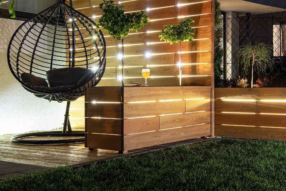Decking and fencing for a luxury feel and look in the garden.