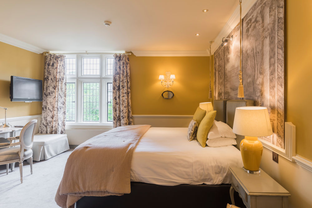 One of the bedrooms in Coombe Abbey