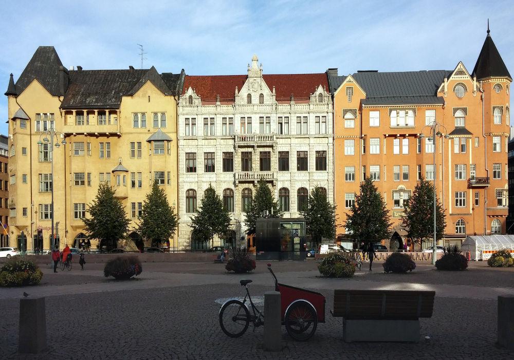 Beautiful buildings in Helsinki