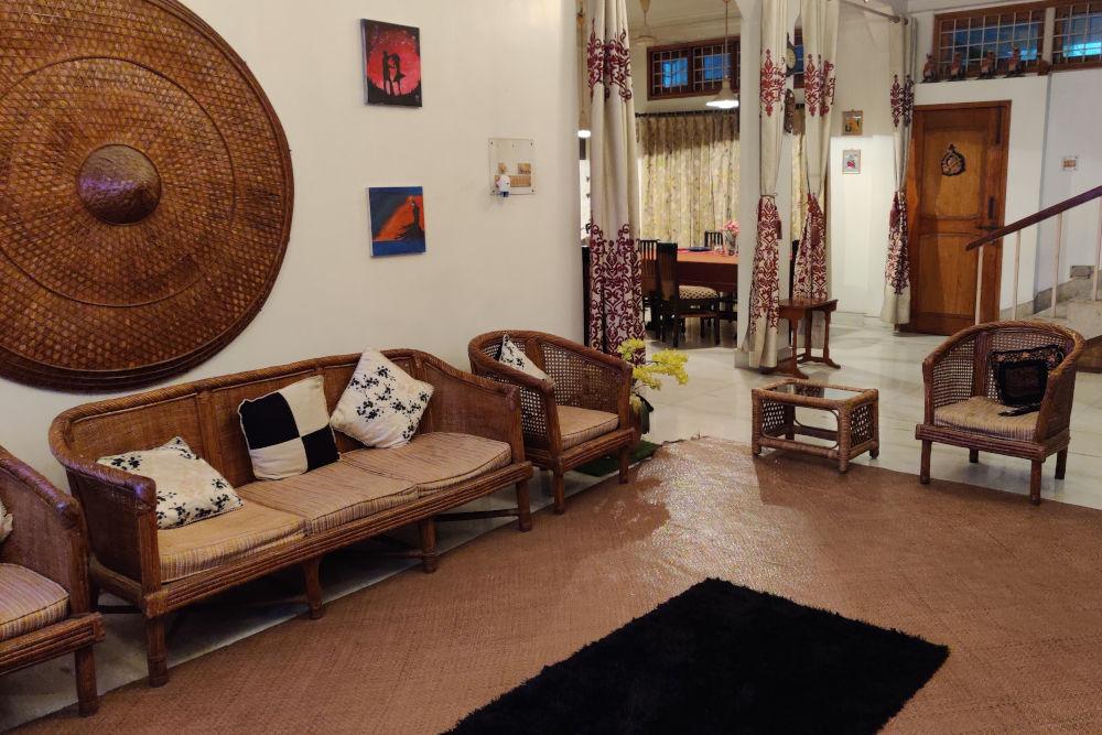Cosy lounge area at Palash Borah's Residence