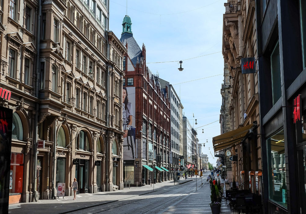 Streets in Helsinki