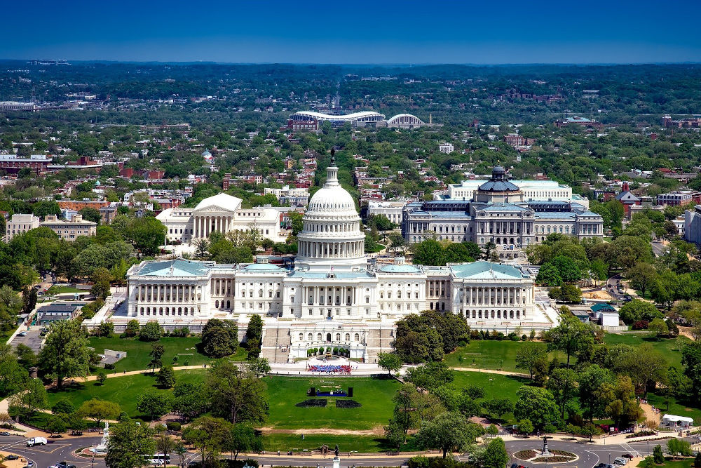 View of the United States Capitol in Washington