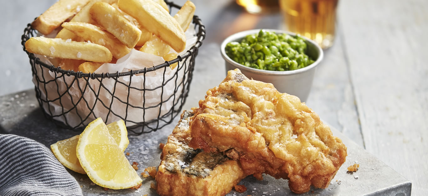 Beer-Battered Tofish and Chips