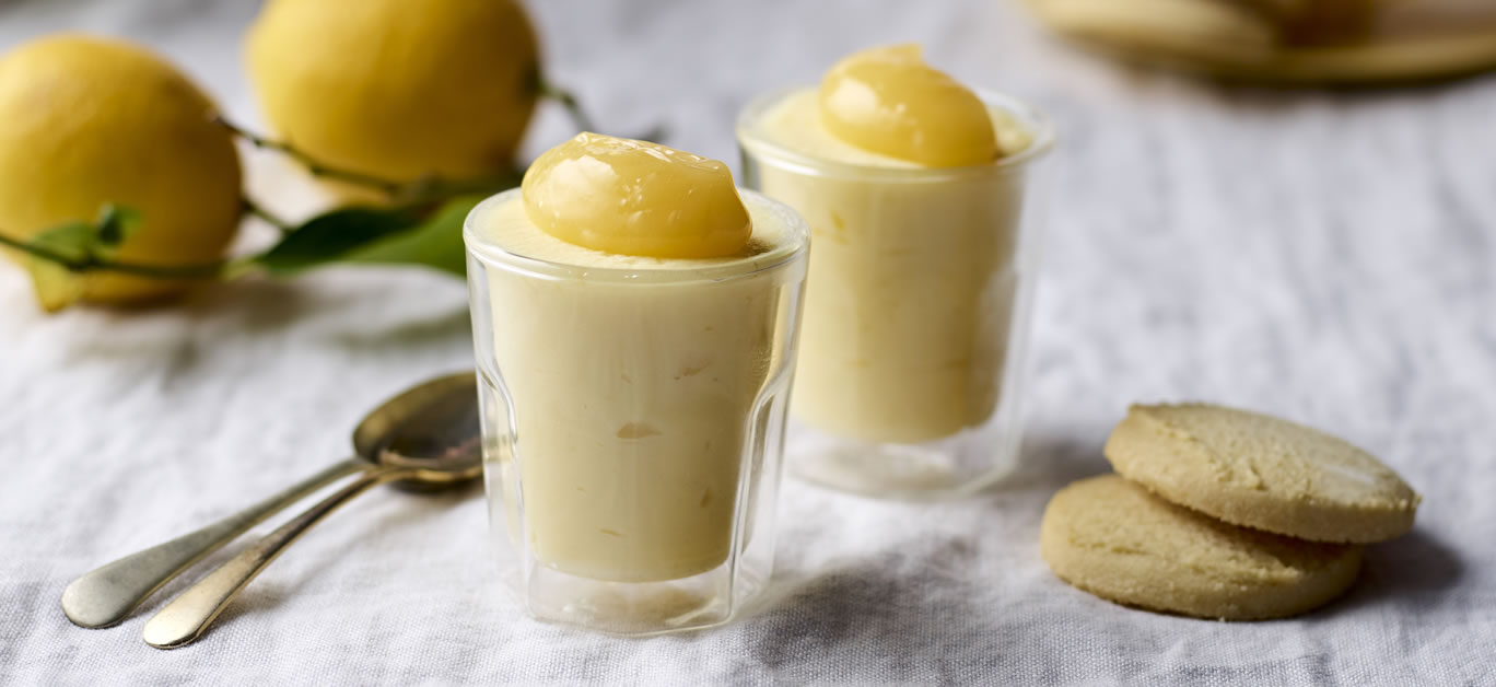 Zingy lemon possets from Cartwright and Butler