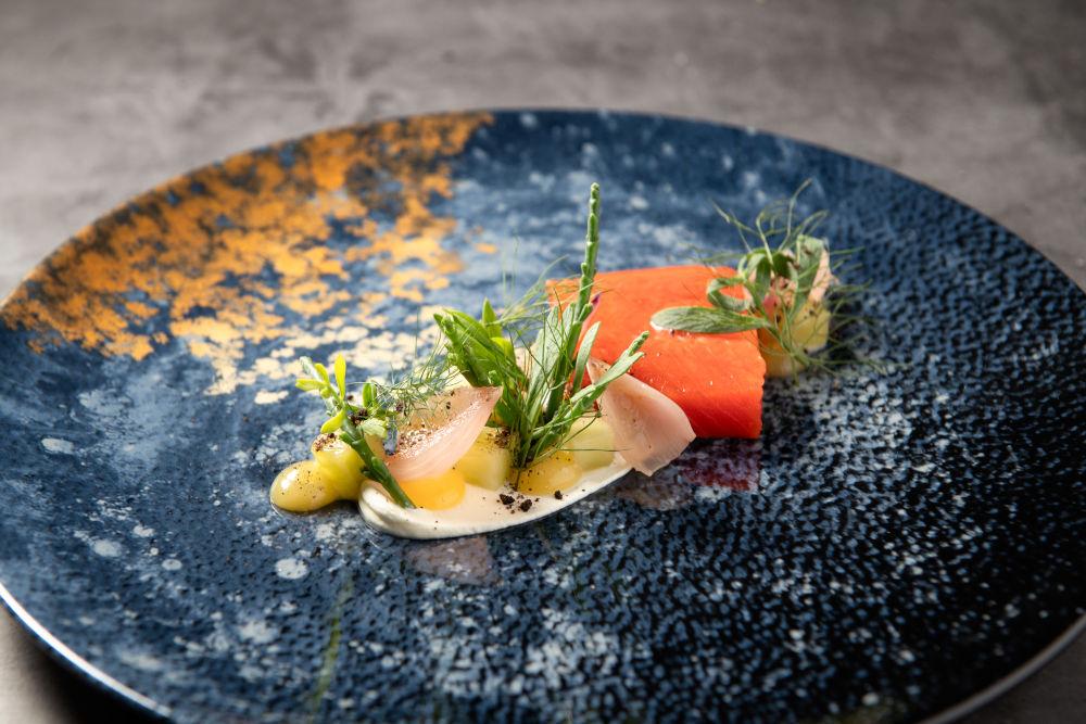Salmon dish at MOREISH