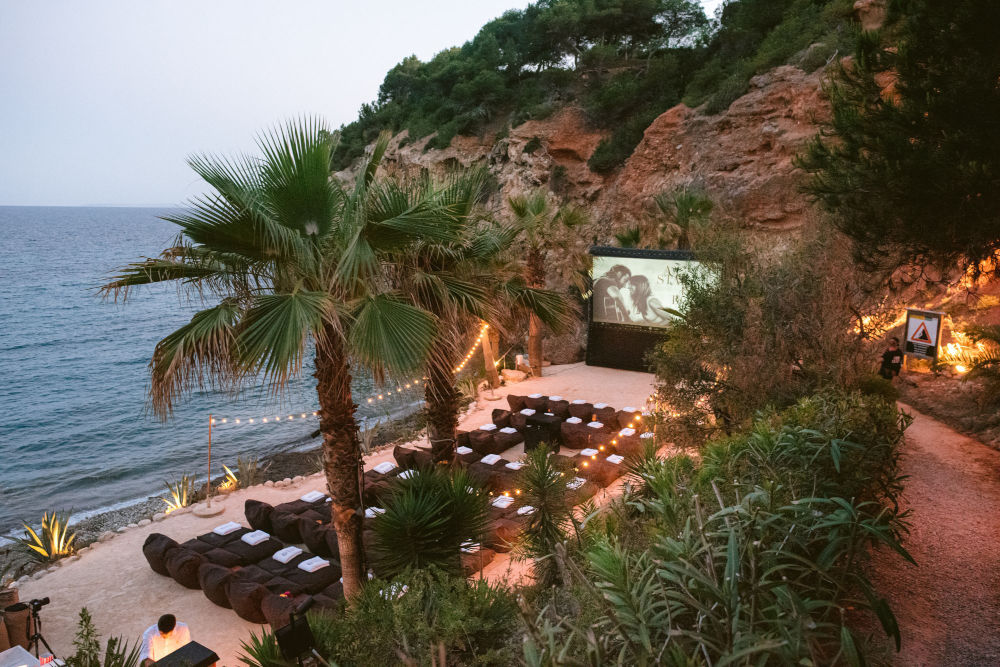 Beautiful outdoor cinema at Amante Ibiza