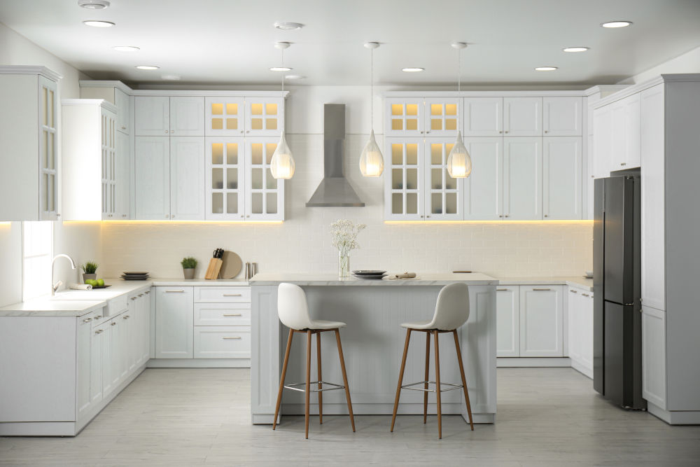kitchen interior with new stylish furniture