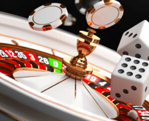 Casino Background. Luxury Casino Roulette Wheel