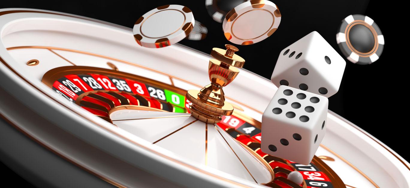 Casino Background. Luxury Casino Roulette Wheel