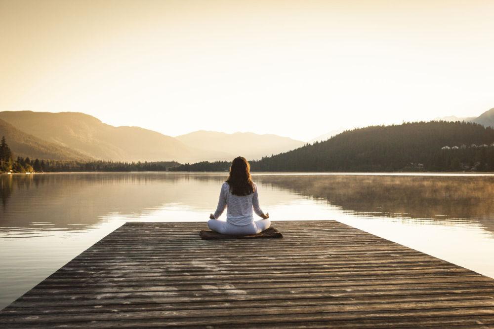 meditation relaxing in yoga