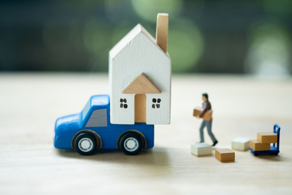 Real estate and property business concept and service for move on to new home