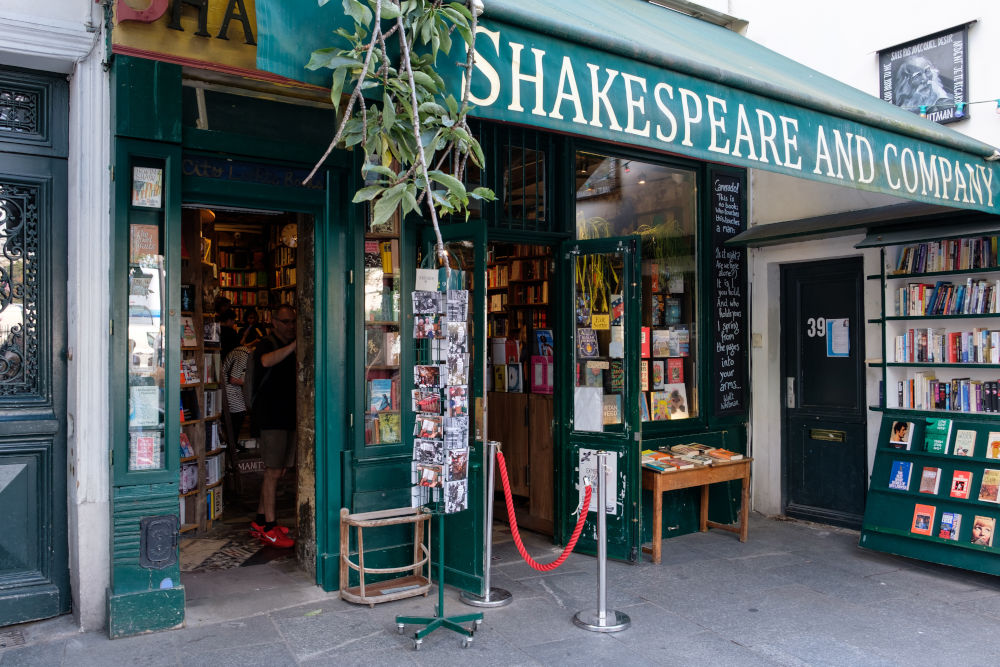 The famous Shakespeare and Company bookstore in Paris
