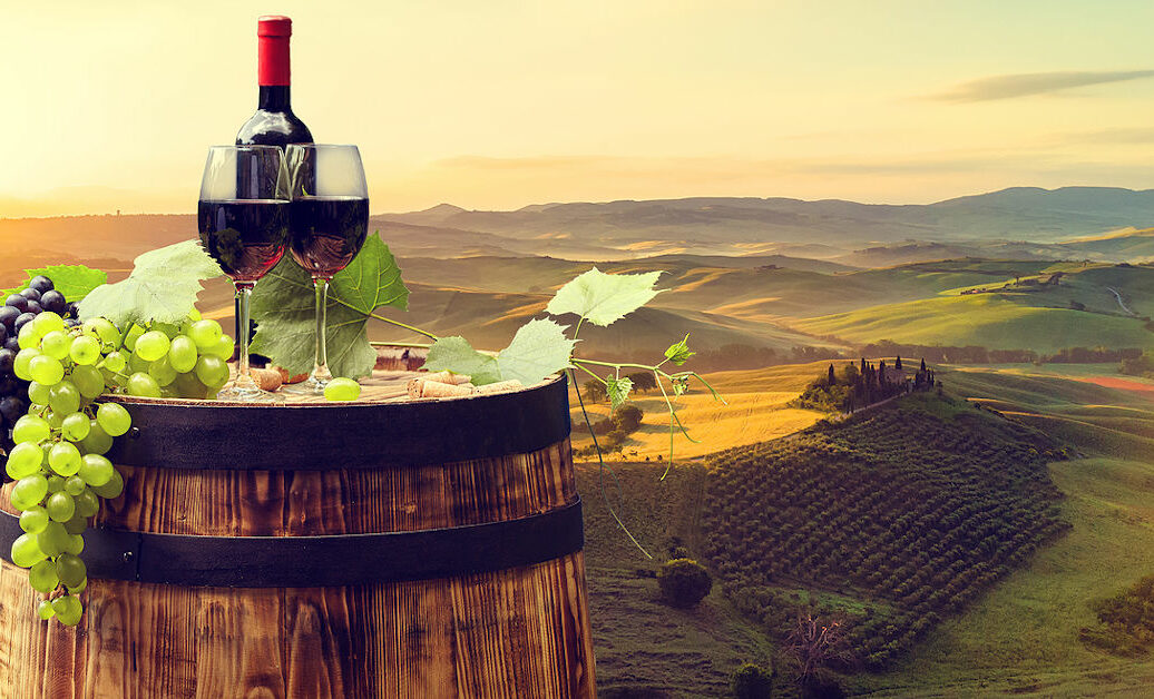 red wine tuscany