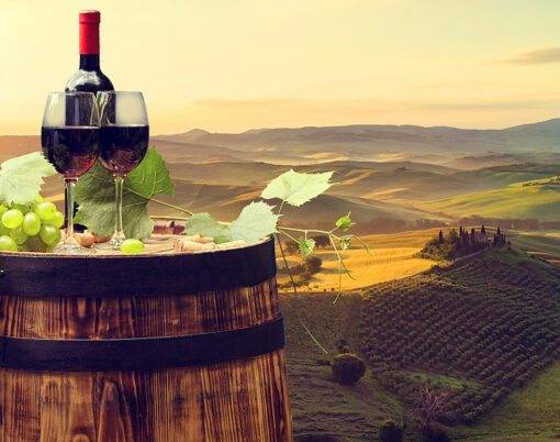 red wine tuscany