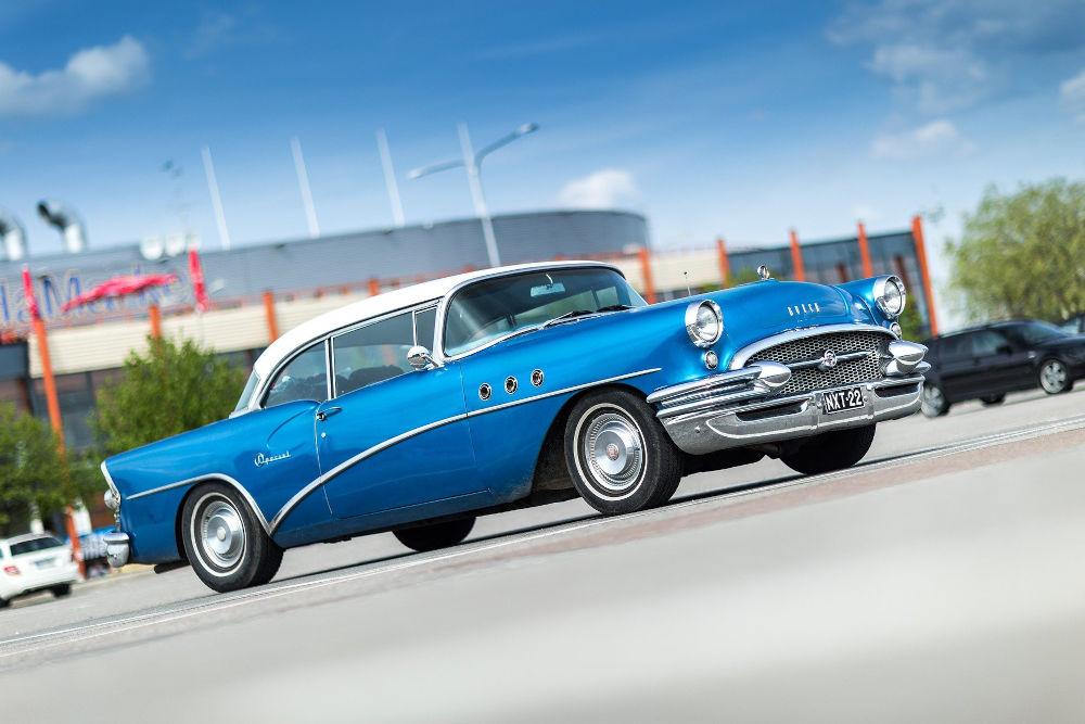 Classic car in a car park